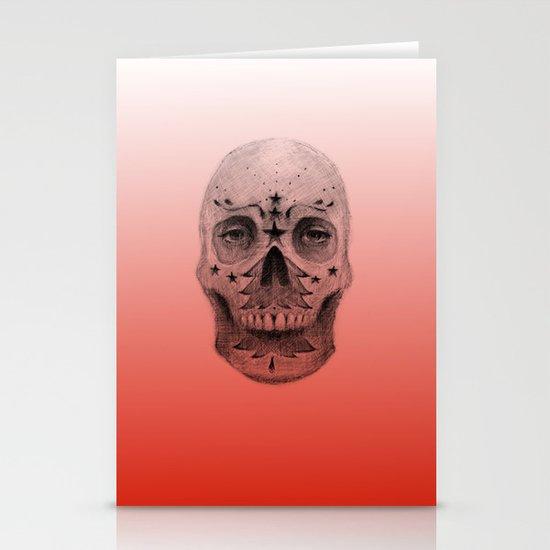 #34 - Christmas Tree Sugar Skull Stationery Card