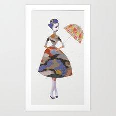 Miss Alice in wonderland  Art Print