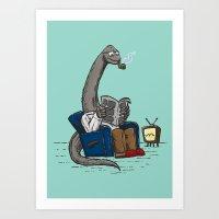The Dadasaurus Art Print