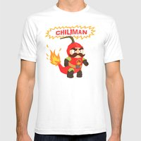 Chiliman Mens Fitted Tee White SMALL