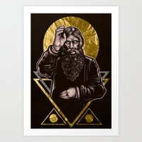Art Print featuring Mad Monk by Derek Guidry