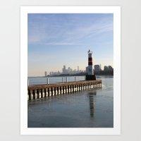 Montrose Harbor In The W… Art Print