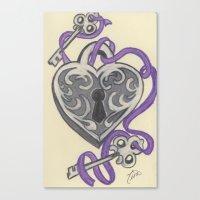Love Lock Down Canvas Print