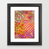 Retro patterns Framed Art Print
