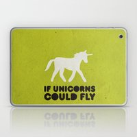 If unicorns could fly. Laptop & iPad Skin