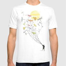 Kite Dream Mens Fitted Tee White SMALL