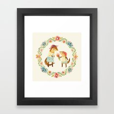 Otterly Grateful Framed Art Print
