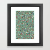 Houses - eco Framed Art Print