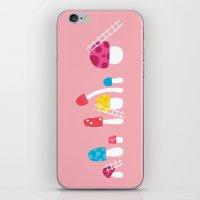 Mushroom Maintenance Pink iPhone & iPod Skin