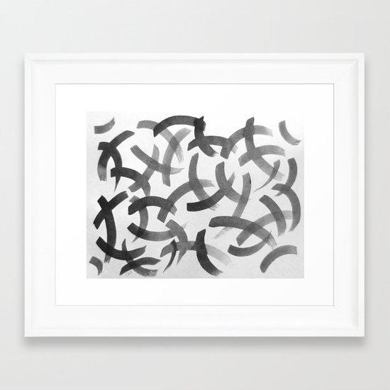 Swashes Framed Art Print