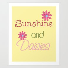 Sunshine and Daisies Art Print