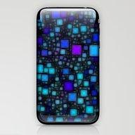 Post It Blue Glow iPhone & iPod Skin