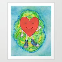 A Heart With Sneakers On Art Print