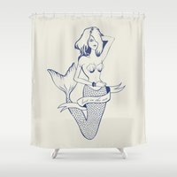 Lost in the sea Shower Curtain