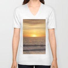 California Sunset Over Ocean Unisex V-Neck