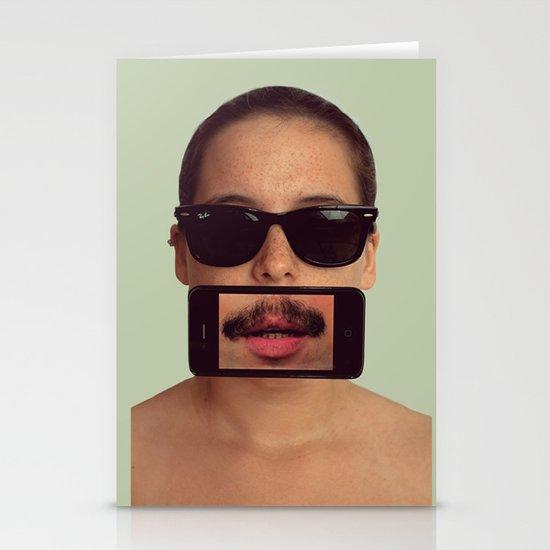 mustache~ Stationery Card