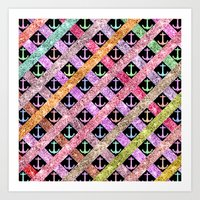 Girly Colorful Glitter N… Art Print
