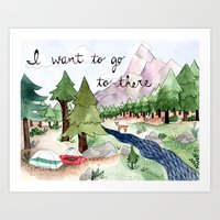 I Want To Go To There Art Print