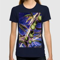 CRAYON LOVE - Olivebranch Womens Fitted Tee Navy SMALL