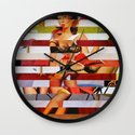 Glitch Pin-Up: Britney Wall Clock