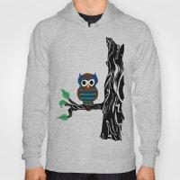 Mustachioed Owl Hoody