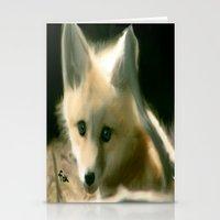 BLUE EYED FOX Stationery Cards
