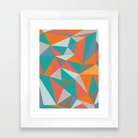 Summer Deconstructed Framed Art Print