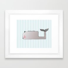 Gentleman Whale Framed Art Print