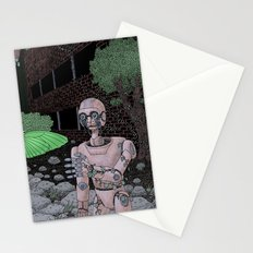 almost human Stationery Cards