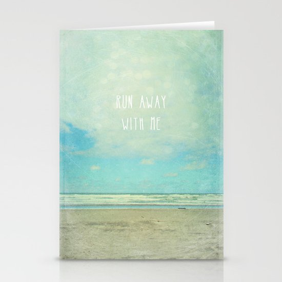 run away with me Stationery Card