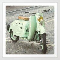 Mint Moto - Bruges Belgi… Art Print