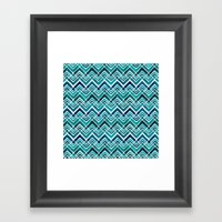 Arrowhead Chevrons Framed Art Print