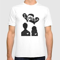 ILoveYou Mens Fitted Tee White SMALL