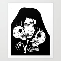 Lady Death Trip Art Print