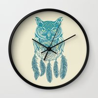 Midnight Dream Catcher Wall Clock