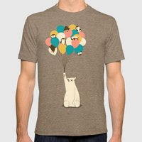 Penguin Bouquet Mens Fitted Tee Tri-Coffee SMALL