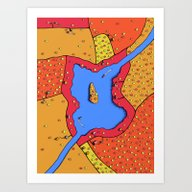 Art Print featuring The Lake Over There by Nate Armstrong