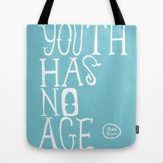 Youth Has No Age (Blue) Tote Bag