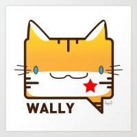 Convo Cats! Wally Art Print