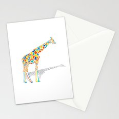 Technicolor Giraffe Stationery Cards