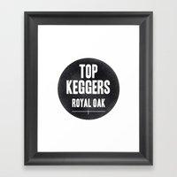 Top Keggers Framed Art Print