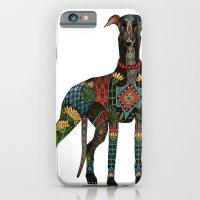 greyhound white iPhone 6 Slim Case