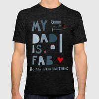 My Dad is Fab Mens Fitted Tee Tri-Black SMALL
