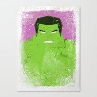 The Grunge Green Rage Canvas Print