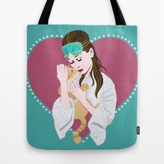Holly Golightly's cat / Audrey Hepburn Tote Bag