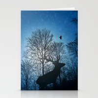 Deer In The Snow  Stationery Cards