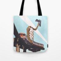 Le train Tote Bag