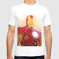Iron Man Armor Mens Fitted Tee White SMALL