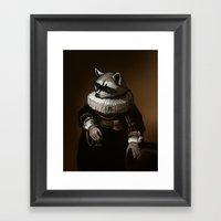 Regal Raccoon Framed Art Print