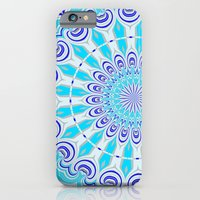 mandala blue iPhone 6 Slim Case